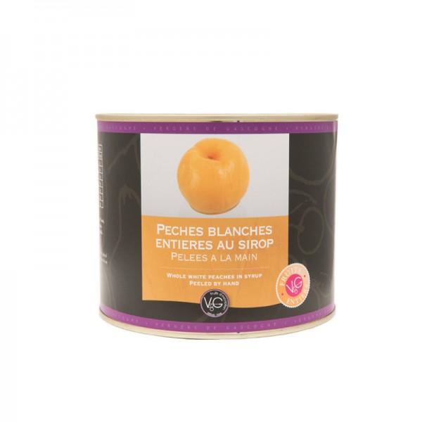 Französische weiße Pfirsiche in Sirup